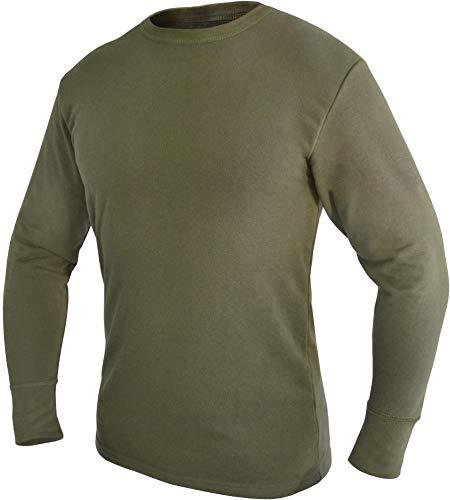 normani Bundeswehr Thermohemd Unterhemd Langarm mit Innenfrottee Farbe Oliv Größe 8
