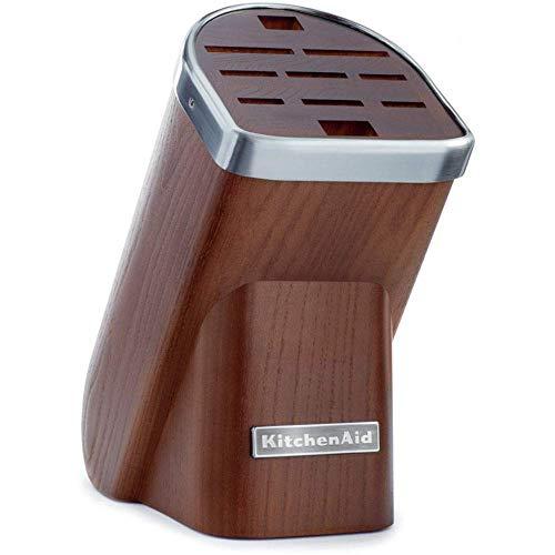 KitchenAid Messerblock Solo, Holz, dunkle Akazie, 30 x 25 x 20 cm