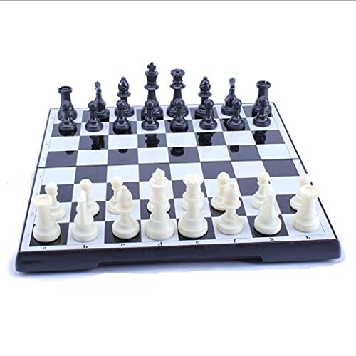 Juego de Ajedrez Juego de ajedrez de plástico magnético Tablero de ajedrez plegable Almacenamiento Internacional Juego de ajedrez Family Party Game Educación Juguetes Juego de Mesa ( tamaño : 32cm )