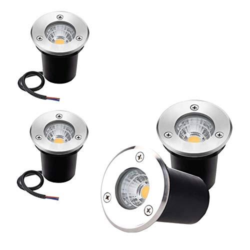 GFSD IP68 Vergrabene Lampe Bodenbeleuchtung COB Im Freien LED Untergrundlampe Licht Gartenhof Licht Weihnachtsdekoration (Color : Natural Light, Size : 12V-3W)