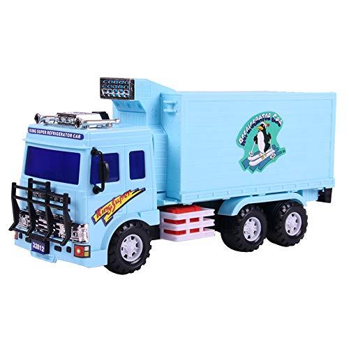 Xolye Trägheit vorwärts Gefrierschrank Automodell Simulation Kühlberatung Container Auto Spielzeug Kann die Tür öffnen Große Kinder Spielzeugautomaten Auto Junge Outdoor Spielzeug Auto Geschenk