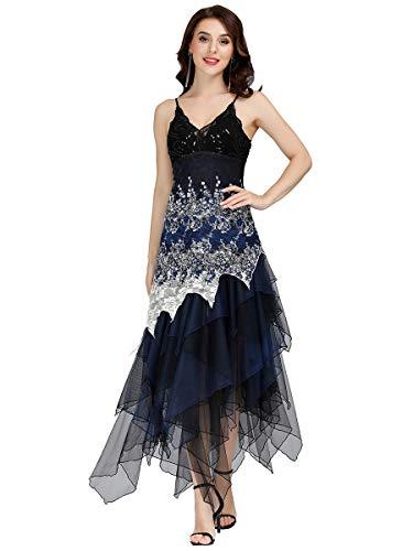 Lista de los 10 más vendidos para vestidos azules de mujer para fiestas