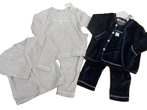 Bnwt bébé Unisexe garçons filles 3 pièces en velours Combinaison pour homme Top et pantalon