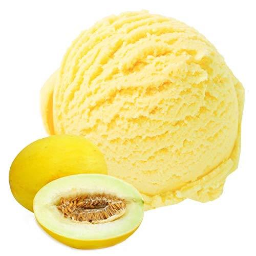 Honigmelone Geschmack Eispulver VEGAN - OHNE ZUCKER - LAKTOSEFREI - GLUTENFREI - FETTARM, auch für Diabetiker Milcheis Softeispulver Speiseeispulver Gino Gelati (Honigmelone, 1 kg)