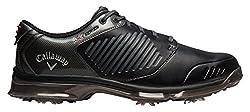 Callaway Men's Xfer Nitro Golf Shoes, White (White / Gray / Crimson), 44.5 EU