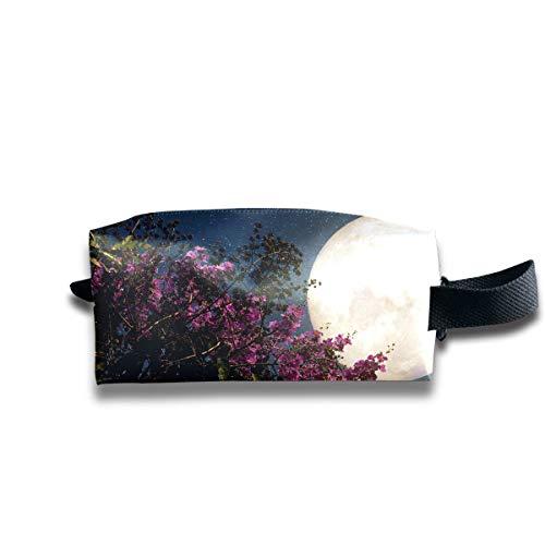 Trousse de maquillage pour femme Belle fleur de cerisier Sakura Flowers Milky Lady Trousse de maquillage Carré Beauty Tote Bag Grande capacité avec fermeture à glissière pour femmes et filles Utilisa