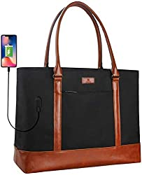 Best Teacher Tote Bags with Pockets - Monstina Laptop Tote Bag Review