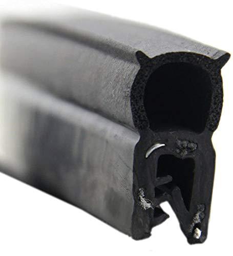 DO19 Dichtungsprofil von SMI-Kantenschutzprofi mit Dichtung oben - Klemmbereich 1-3 mm - Klemmprofil und Dichtung aus NBR Gummi (Zellkautschuk) - einfache Montage, selbstklemmend ohne Kleber (3 m)