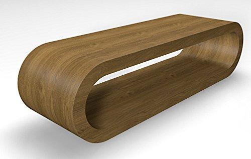 Zespoke Design Rétro de Cercle de Style Grande Largeur Pippy Café Chêne Mat Tableau/Meuble TV 110cm