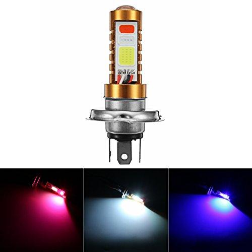 C-FUNN 12/24 V 15 W 6500 K motorfiets H4 LED hoge lichtstraal 3 kleuren scooter gloeilamp stok ATV