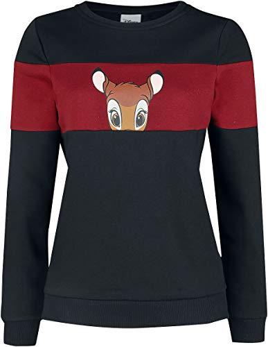Bambi Lovely Face Frauen Sweatshirt schwarz/rot S