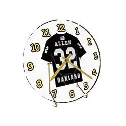 Marcus Allen 32 Oakland Raiders Desktop Clock - National Football League Legends Edition !!