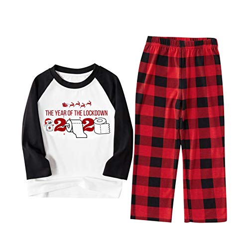 Conjunto de pijama de verano de manga corta para mujer, pijama corto, pijama de noche para verano, para mujer, pijama de Papá Noel, blusa y pantalones, ropa familiar
