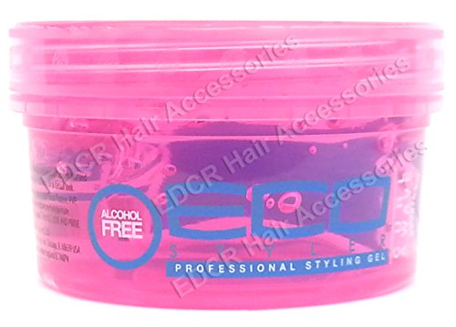 Eco Professional Curl & Wave Styling Gel Firm Hold Tous Types de Cheveux 8 oz Rose