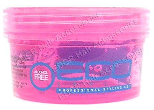ECO - Gel fijador profesional Curl & Wave ('rizos y ondulaciones') para todo tipo de cabellos, 240 ml, rosa.