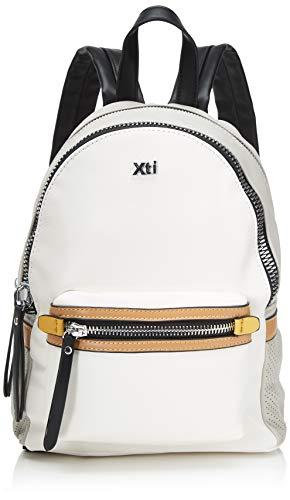 XTI 86268.0, Bolso mochila para Mujer, Blanco (Blanco), 22x29x13 cm (W x H x L)