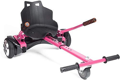 Improv Hoverkart – Go-Kart verstellbarer Hoverkart-Sitz für elektrische Self Balancing Scooter – passend für alle Hoverboard-Größen – 16,5 cm, 20,3 cm und 25,4 cm (Rosa)