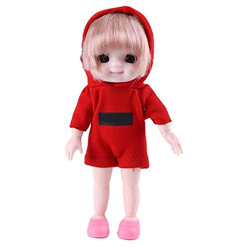 Rvest Puppe 3D Schönheitspupille BJD Make Up Puppe,Mädchenpuppe Realistische Durbale Simulation Babypuppe Spielzeug Kinder Spielen Spielzeug Geschenk
