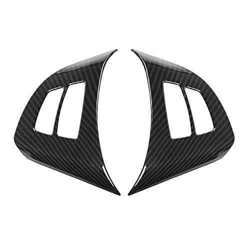 Broco 2ST-Carbon-Faser-Lenkrad-Knopf Rahmen Zierabdeckung Trim for BMW X5 E70 2008-2013