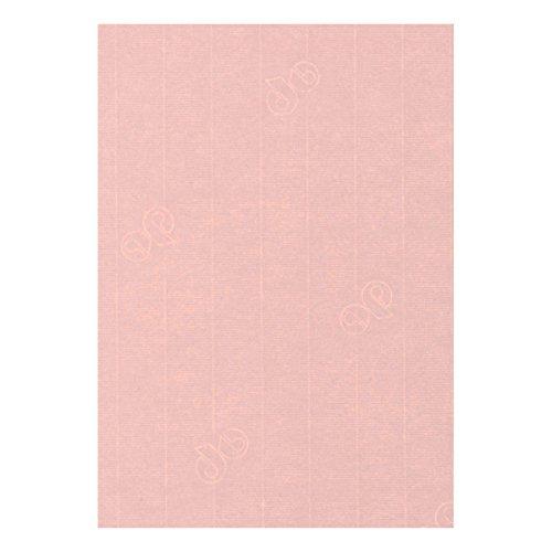 50 Stück - Artoz Serie 1001 Papier Bogen gerippt - 100g/qm - DIN A4, 297 x 210mm, hochwertig, zartrosa