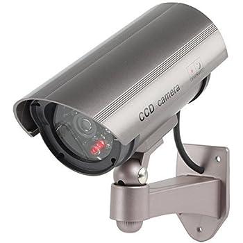 KAMACA SOLAR Sicherheitskamera Attrappe mit rot blinkender LED Fake Überwachung