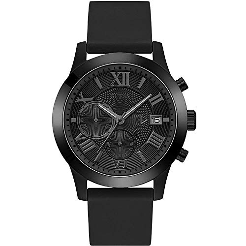 Guess Herren Chronograph Uhr Atlas mit Silikonband