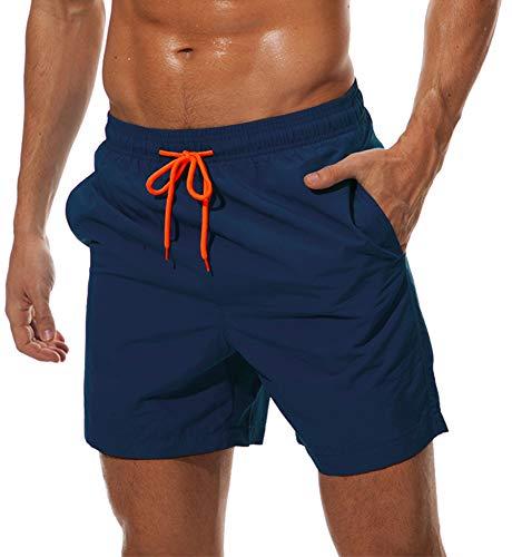 TACVASEN Mens Beach Shorts with Pockets Swim Trunks Mens Waterproof Beach...