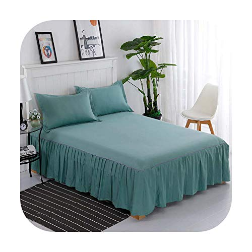 Bedspread Corrugated Edge Fitted Sheet With Elastic Band Mattress Cover Bedding Protector Pad Twin/Queen/King Size-7-1.8M(2 Pillowcases)