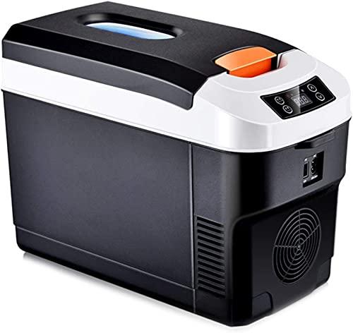Refrigerador Portátil Para Coche, Refrigerador Congelador Portátil 12L Ehicle Coche Camión Barco Mini Refrigerador Congelador con Pantalla Para Conducir Viajes Pesca Al Aire Libre12/24V DC y 220V AC,1