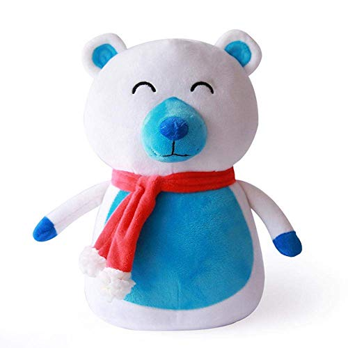 WYYHYPY Peluche de oso polar de peluche suave almohada de Navidad decoración del hogar cómodo cojín de juguete de Navidad regalo para niños. oso