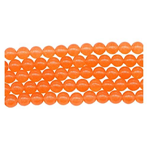 AIHONG Cuentas de Piedra Piedra Natural Naranja Cuarzo Cristal de Piedra Cuentas Redondas Perlas Espaciador Sueltas para joyería Hallazgo Hallazgos DIY Pulsera Fabricación de Joyas