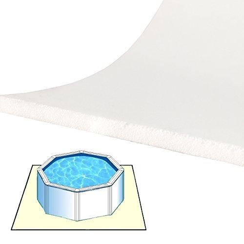 Zavattishop Tappeto materassino Morbido da Fondo 4 x 4 m per Piscina fuoriterra