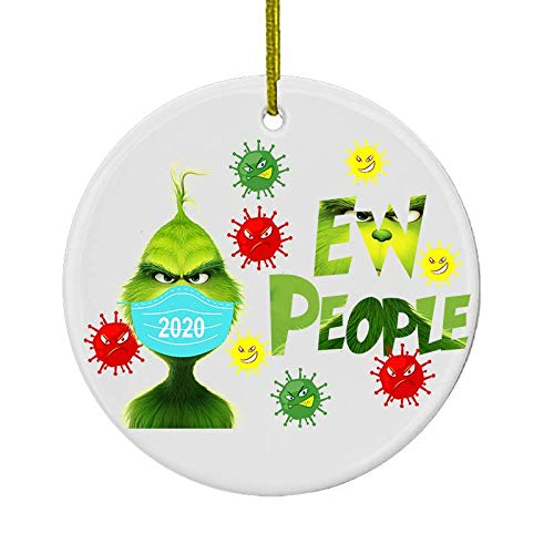 Grinch 2020 Face Mask Christmas Ornament, Grinch Ornament, Grinch Movies, Grinch Hand Christmas Tree Ornament