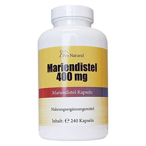 Mariendistel Extrakt 400mg - 80% Silymarin (320mg) - 240 Kapseln