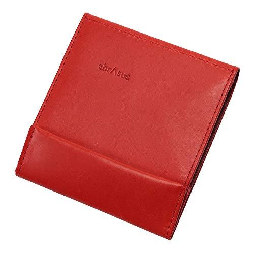 薄い財布 abrAsus アブラサス 最上級ブッテーロレザーエディション レッド