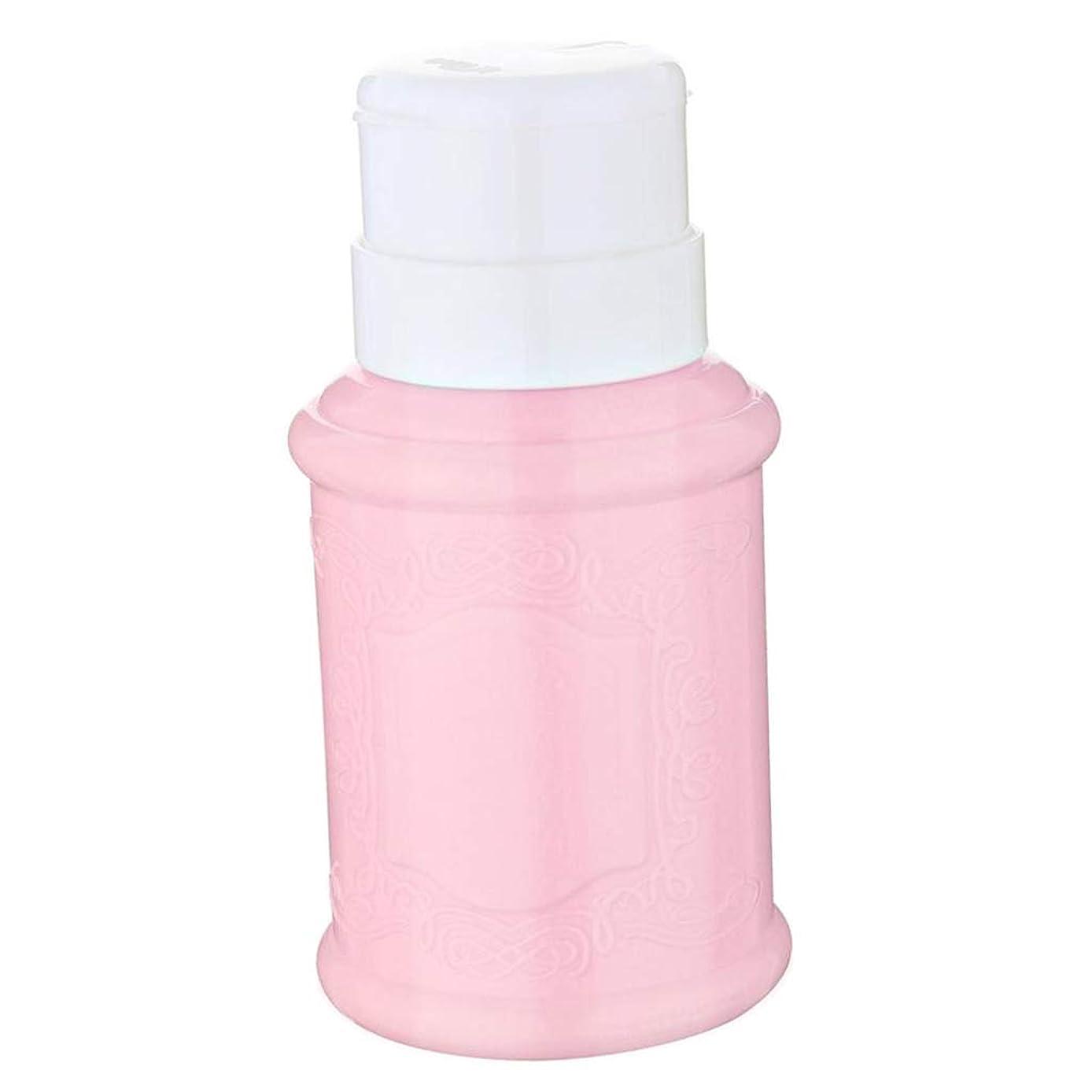 悪意ドームリマークCUTICATE 全3色 空ポンプ ボトル ネイルクリーナーボトル ポンプディスペンサー ジェルクリーナ - ピンク