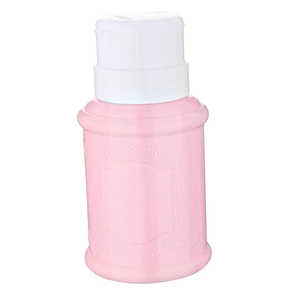 CUTICATE 全3色 空ポンプ ボトル ネイルクリーナーボトル ポンプディスペンサー ジェルクリーナ - ピンク