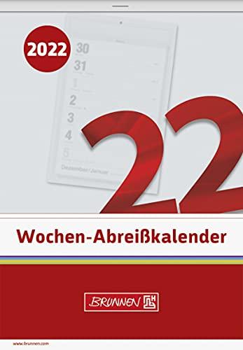 BRUNNEN 1070325002 Wochen-Abreißkalender Nr. 25, 1 Seite = 1 Woche, 105 x 150 mm, Kalendarium 2022