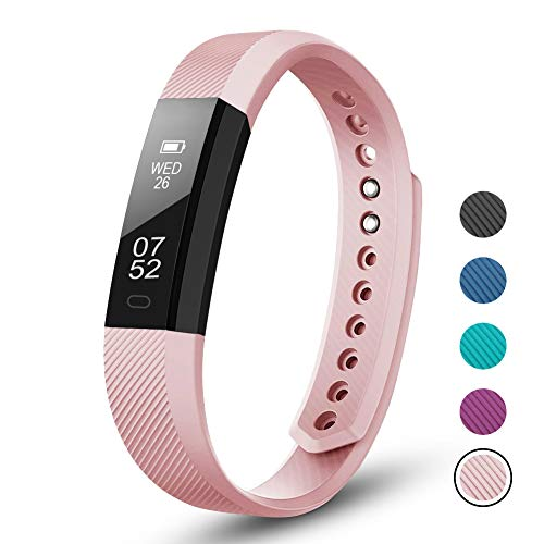 LETSCOM Fitness Tracker, Fitness Tracker Pedometer Watch with Slim Touch Screen and Wristbands, Wearable Activity Tracker as Step Counter Sleep Monitor for Women Men