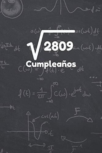 53 CUMPLEAÑOS: REGALO DE CUMPLEAÑOS ORIGINAL Y DIVERTIDO. DIARIO, CUADERNO DE NOTAS, APUNTES O AGENDA. CUADERNILLO DE MATEMÁTICAS.