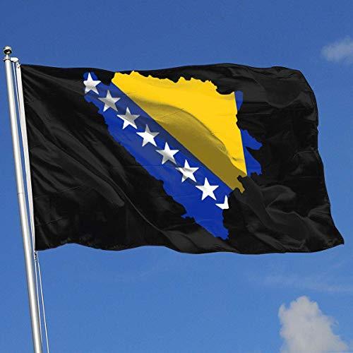 Zudrold Outdoor Flags Flag Map von Bosnien und Herzegowina Flagge für Sportfan Fußball Basketball Baseball Hockey