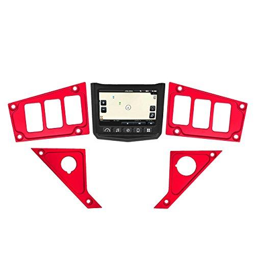 STV Motorsports 2017-2018 Polaris RZR XP 1000 RIDE COMMAND Custom Switch Dash Panel Plates - 100% MADE in USA (short kit, red)