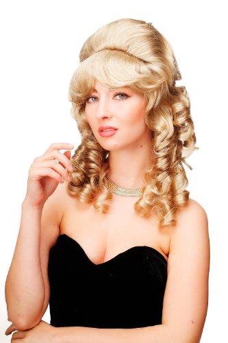 WIG ME UP - Perruque dame de qualité baroque coloniale crêpée choucroute boucles anglaises blonde F156-D-24