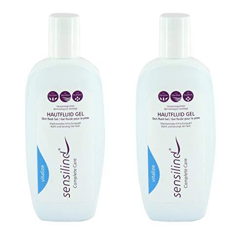 Sensilind Bodycare Hautfluid Gel | 2 x 250 ml Flasche | Erfrischungsgel mit Menthol Kampfer Panthenol | Kühlt und beruhigt die Haut | beugt Wundliegen vor