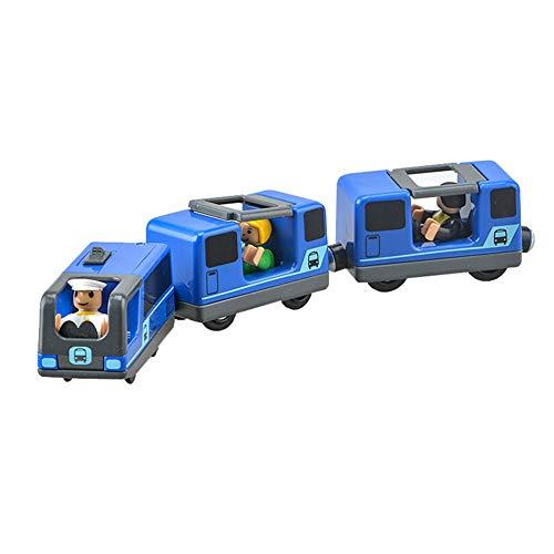 JAWSEU Juguete Tren Eléctrico, Locomotora ferroviaria Tren eléctrico Conectado Magnéticamente, Compatible con...