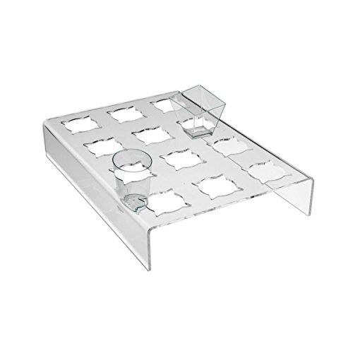 Avà srl Support plexi crème glacée – 12 compartements - Dimensions: 21x30x H5 cm