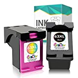 Get CRTBOTW Remaunfactured 63XL Ink Cartridge for HP 63 63XL Ink for HP OfficeJet 3830 4650 5255 5200 5280 Envy 4520 4510 4512 Deskjet 3630 1112 2132 3634 3632 Printer (2 Pack) Replacement 63 XL Just for $36.69