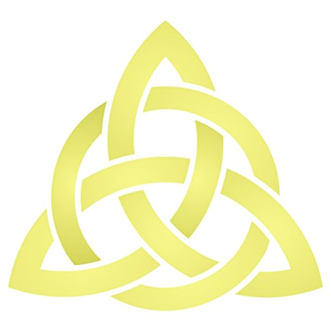 Celtic Trinity Knot Stencil - 6.5 x 6 inch (L) - Reusable Geometric Knotwork Sacred Symbol Stencil Template - Use on Paper Projects Scrapbook Journal Walls Floors Fabric Furniture Glass Wood etc.