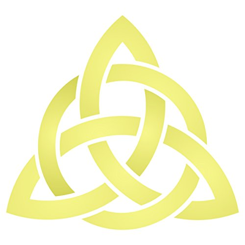 Celtic Trinity Knot Stencil, 3.25 x 3 inch (S) - Geometric Knotwork Sacred Symbol Stencils for Painting Cards