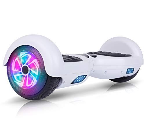 "Huanhui Hoverboard, 6.5\"" Self Balancing Scooter mit Bluetooth Elektro Scooter LED Lights, Elektro Skateboard für Kinder (weiß-no Bluetooth)"